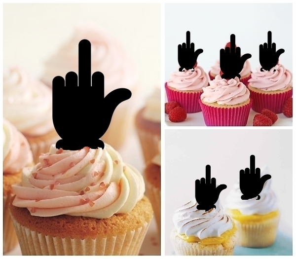 Acrylic Toppers Funny Middle Finger Design