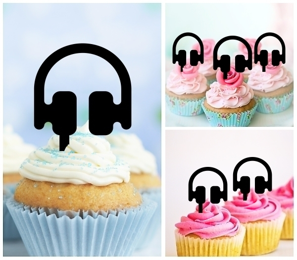 Acrylic Toppers Music Headphones Design