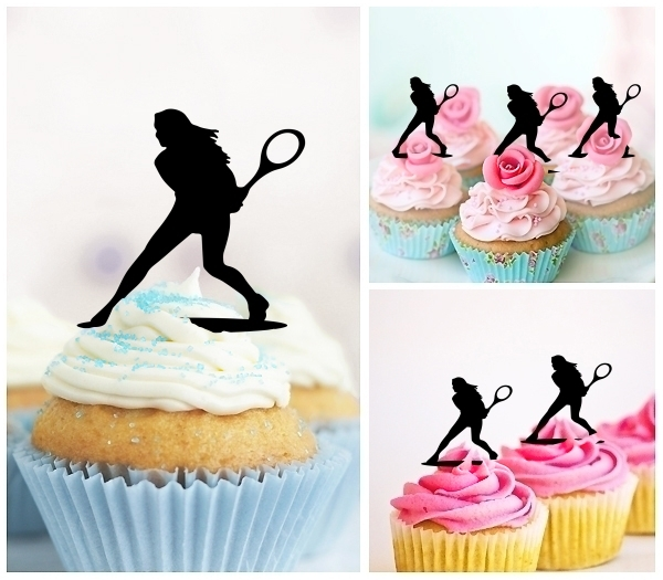 Acrylic Toppers Female Tennis Player Design