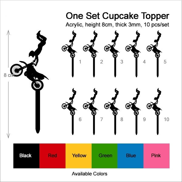 Extreme Sport Freestyle Motocross Cupcake